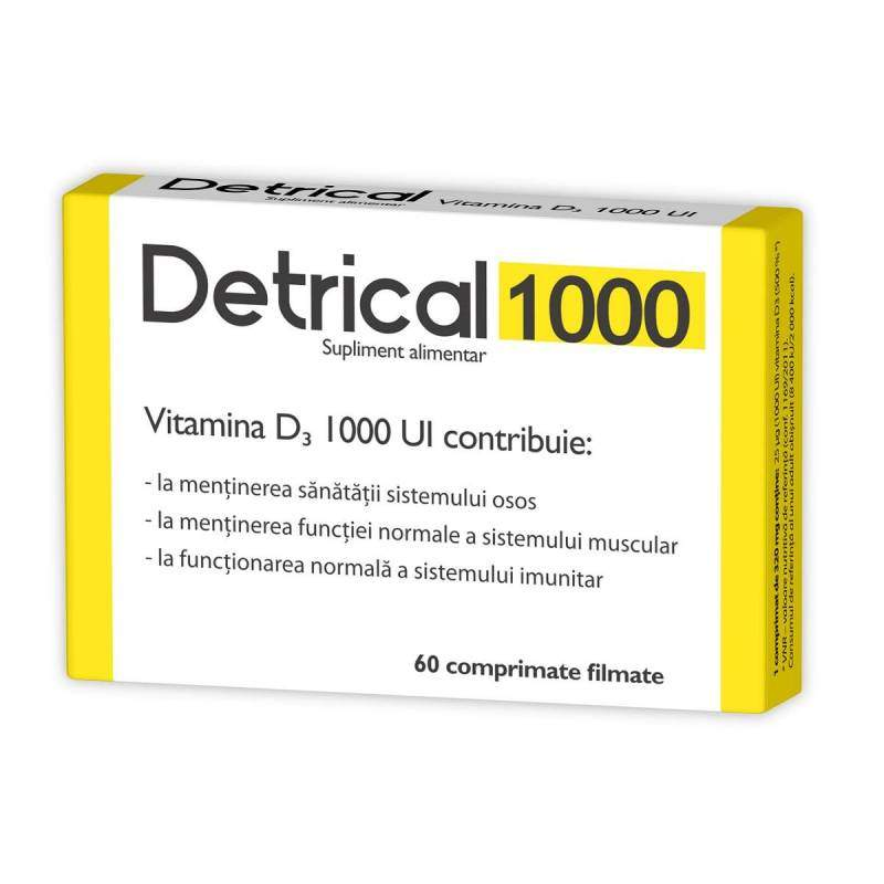 Detrical D3 1000 IU, 60 comprimate