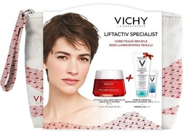 VICHY LIFTACTIV COLLAGEN 50ML + CADOU PURETE THERMALE DEMACHIANT 3IN1 100ML + MINERAL 89 4ML