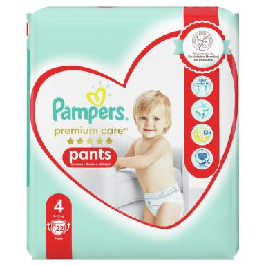 PAMPERS PREMIUM CARE 4 PANTS 9-15KG X 22BUC