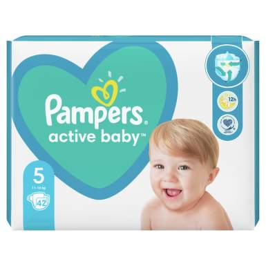 PAMPERS ACTIVE BABY 11-16KG X 42BUC MARIMEA 5