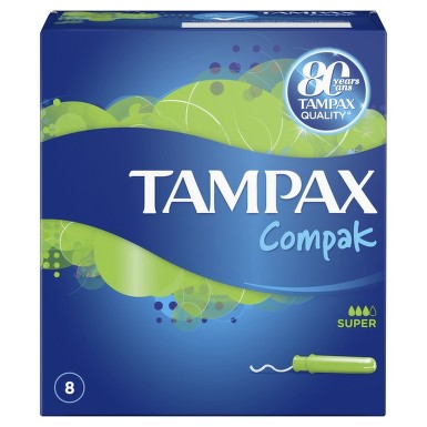 TAMPAX COMPAK SINGLE SUPER TAMPOANE 8BUC
