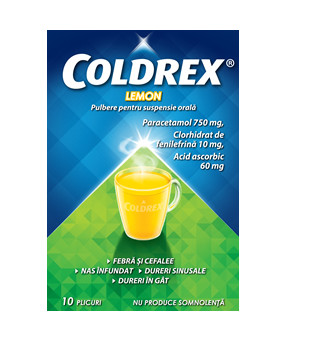 COLDREX LEMON 10PLICURI