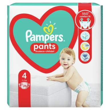 PAMPERS BABY PANTS 4 9-15KG X 25BUC