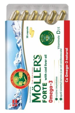MOLLERS FORTE OMEGA 3 + COD LIVER OIL 30CPS
