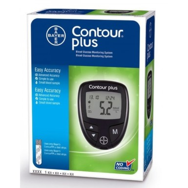 BAYER GLUCOMETRU CONTOUR PLUS