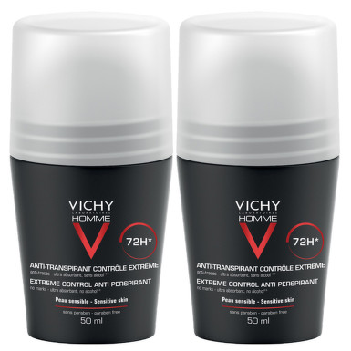 VICHY HOMME DEO ROLL-ON CONTROL EXTREM EFICACITATE 72H 50ML 1 + 1 GRATUIT