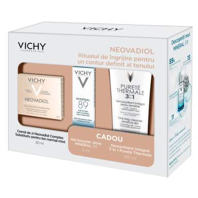 VICHY NEOVADIOL CREMA 50ML + CADOU PUR THERMALE DEMACHIANT 3IN1 100ML + MINERAL 89 4ML