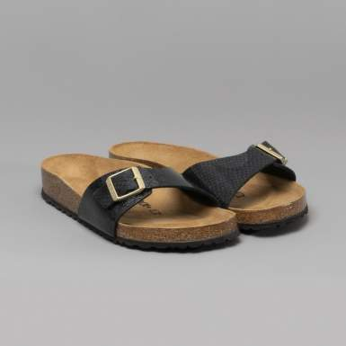 BIRKENSTOCK 1009042 PAPUCI MADRID MAGIC SNAKE BLACK MARIMEA 38