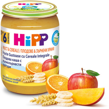HIPP ECO FRUCT CEREALE GUSTARE CU FRUCT 190G