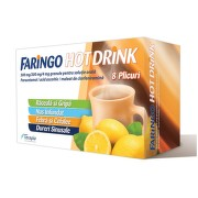 FARINGO HOT DRINK 500MG/200MG/4MG X 8PLICURI