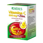 BERES VITAMINA C 600MG + ZN 60CPR FILMATE