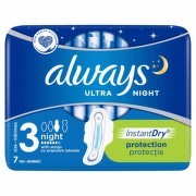 ALWAYS ULTRA NIGHT ABSORBANTE 7BUC