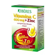 BERES VITAMINA C 600MG + ZN 30CPR FILMATE
