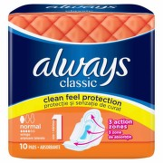 ALWAYS NORMAL PLUS MAXI ABSORBANTE 10BUC