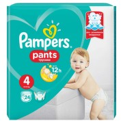 PAMPERS 4 PANTS ACTIVE BABY 9-14KG SCUTECE-CHILOTEL 24BUC