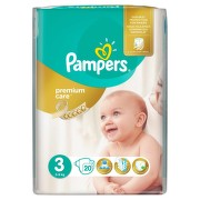 PAMPERS 3 PREMIUM CARE MIDI SCUTECE 20BUC