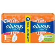 ALWAYS ULTRA FRESH DUO PACK ABSORBANTE 18BUC