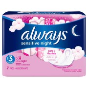 ALWAYS ULTRA SENSITIVE NIGHT ABSORBANTE 7BUC