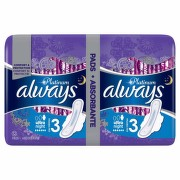 ALWAYS PLATINUM NIGHT DUO ABSORBANTE 12BUC