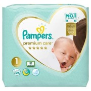 PAMPERS 1 PREMIUM CARE NEWBORN SCUTECE 26BUC