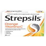 STREPSILS ORANGE VITAMINA C 24PASTILE
