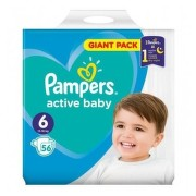 PAMPERS 6 ACTIVE BABY 13-18KG SCUTECE 52BUC